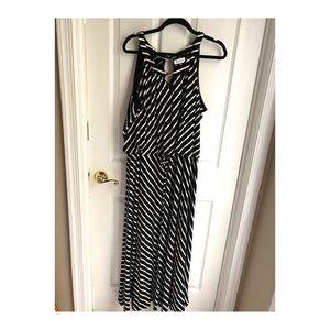 Calvin Klein Striped Maxi Dress (Plus)